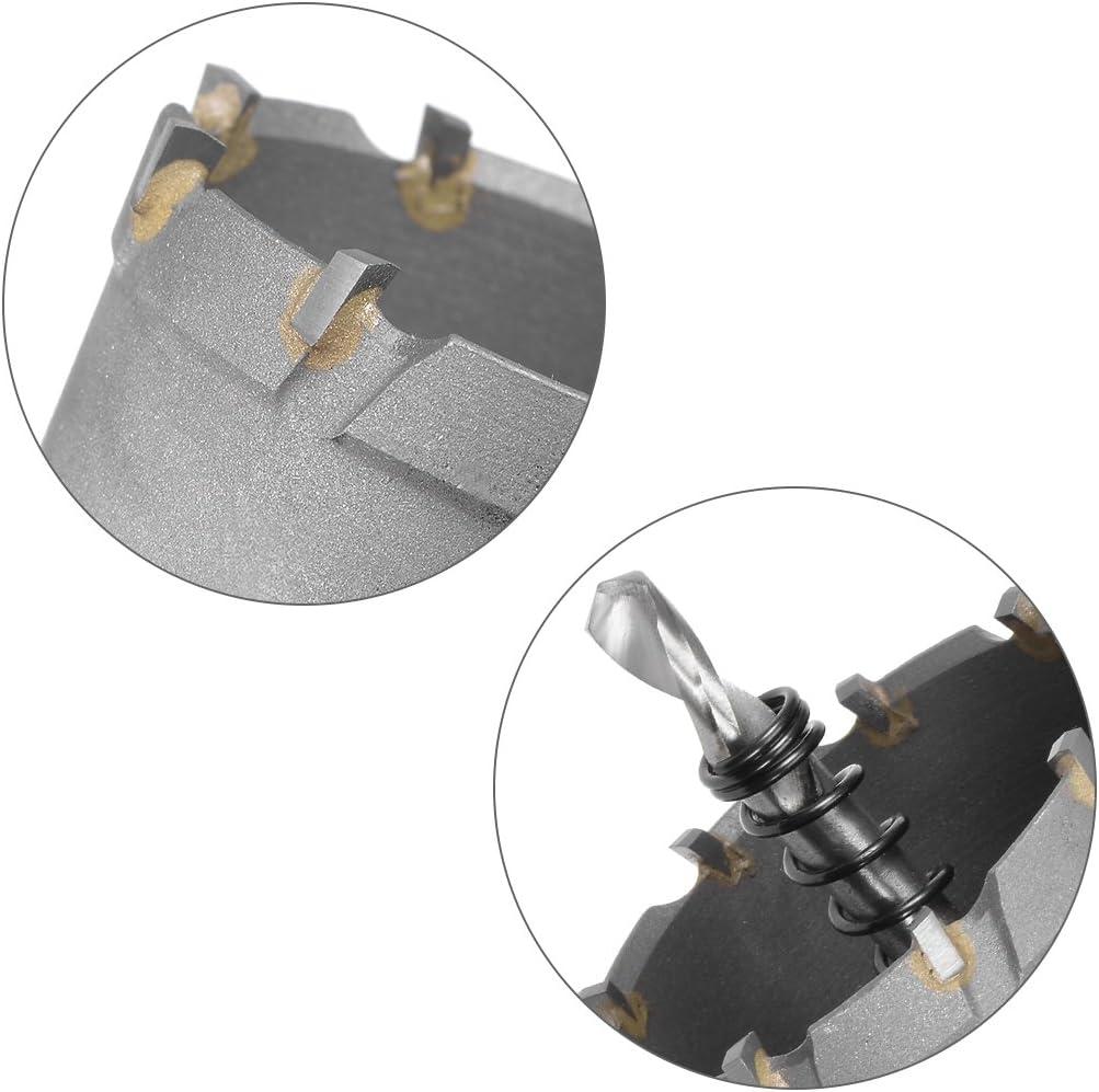 sourcing map Carbure Trou Scie Coupeur Foret pour Acier Inox Alliage 60mm