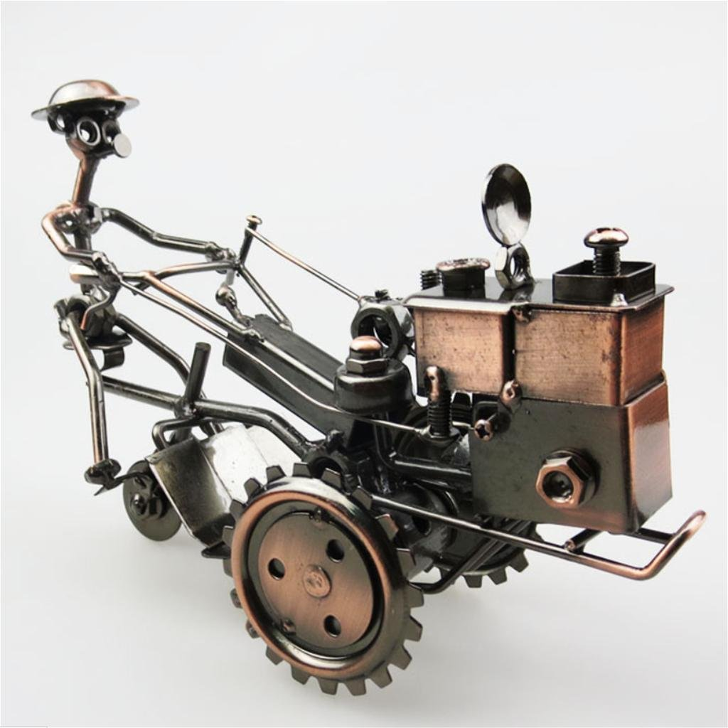 Hierro Tractor Modelo Antiguos De Metal Artesanales Adornos , Bronze: Amazon.es: Hogar