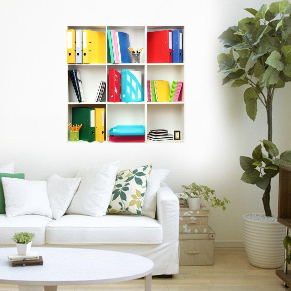 JinRou Kinder Geschenke 3D Wall Sticker (Fenster) Wall Sticker wallpaper hd Selbstklebendes Papier Hintergrund Schlafzimmer Wohnzimmer Fernseher Sofa (85*85cm)