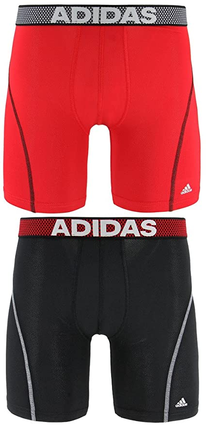 adidas Men's 9 Inch Sport Performance Climacool Midway Underwear (2 Pack)