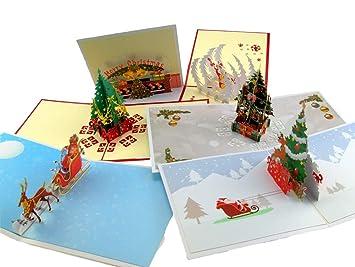 Tarjetas de navidad en 3d manualidades