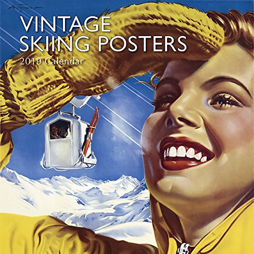 (2019 Wall Calendar - Vintage Skiing Posters Calendar, 12 x 12 Inch Monthly View, 16-Month, Vintage Photos Theme, Includes 180 Reminder Stickers)