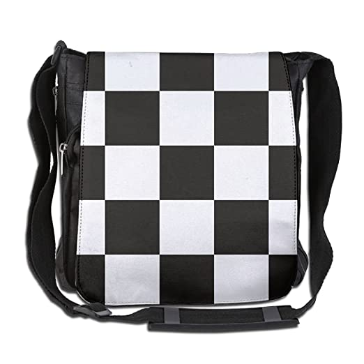 f6941faabd3fc Amazon.com   Checker Black White Fashion Print Diagonal Single ...