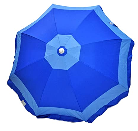 1173cf54dead Amazon.com: Deluxe 6 ft Rio Beach Umbrella Sunshade UPF 100+: Sports &  Outdoors
