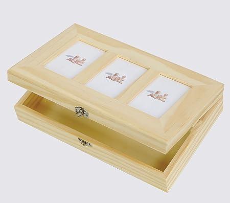 Caja/3, estuche de fotos para decorar-decoupage de madera: Amazon.es: Hogar