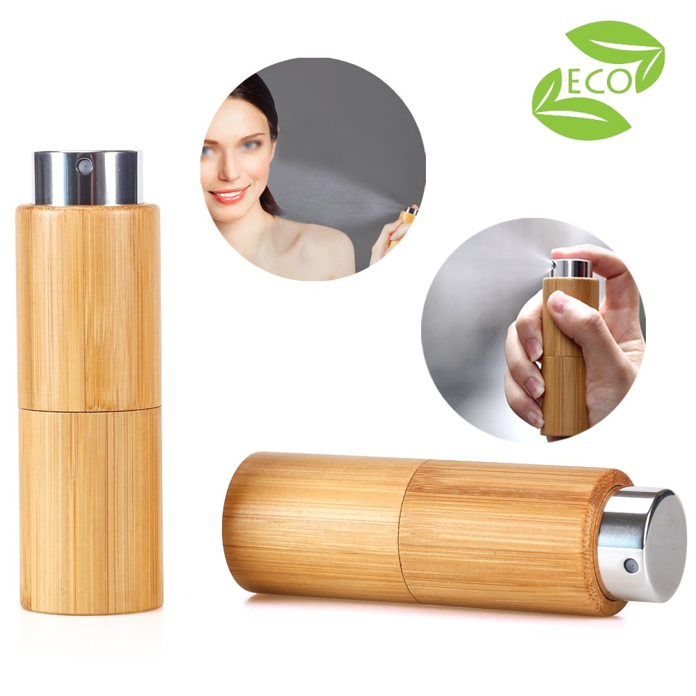 2 pcs 10 ml Travel Perfume Atomizer Spray Bottle- Twisting Concealed Mouth Design/Portable Refillable Empty Bottle for Perfume and Aftershave