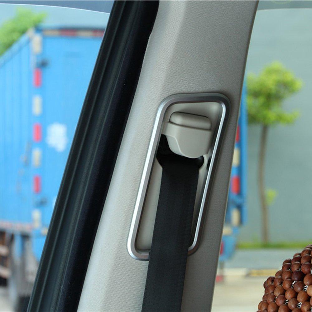 car-styling interior 2PCS decorazione di cintura di sicurezza in ABS cromato Telaio Trim Accessories Agodor