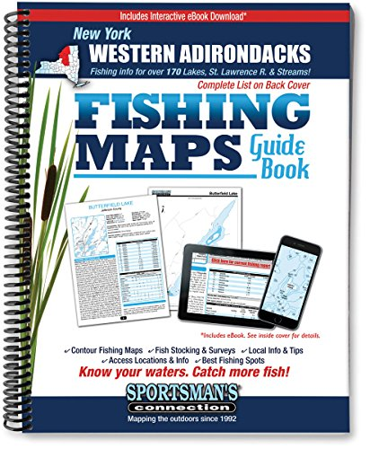 Western Adirondacks New York Fishing Map Guide (Sportsman's (Adirondack Fishing Guide)