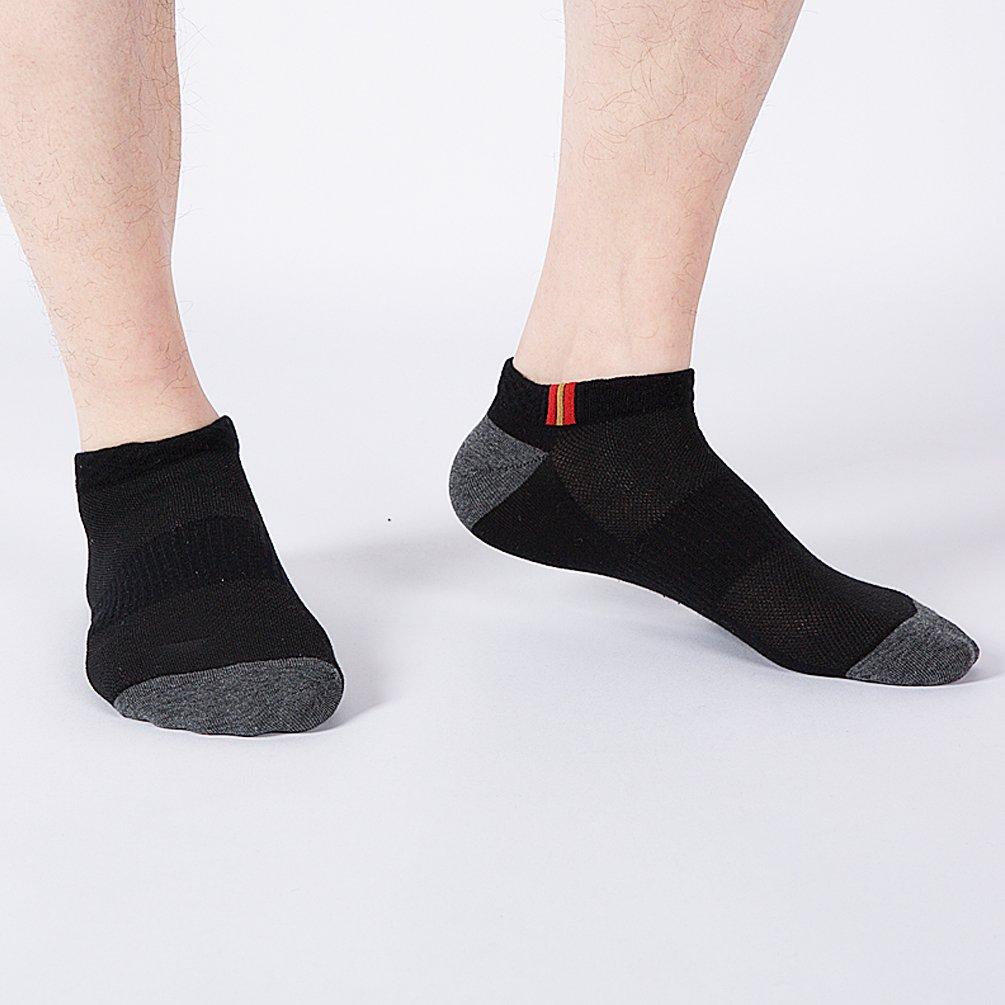 ENJOYNIGHT Men's 5 Pack No Show Socks (Sport socks (men's shoe 6-10))