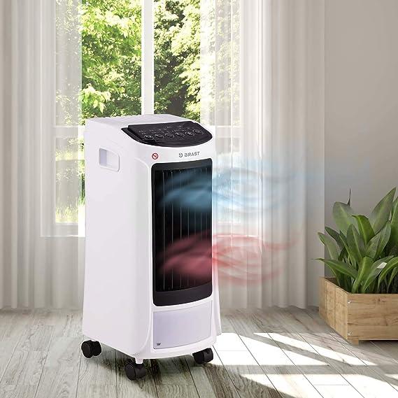 Mobiles Klimagerät Räume Bis 25 Qm 5in1 Kühlen Heizen Ventilator Ionisator Reinigung Klimaanlage Air Cooler Luftkühler Brast Amazon De