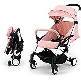 sillas de paseo ligeras carritos de bebe plegable carro bebe de viaje por 0-5 años (Rosa)