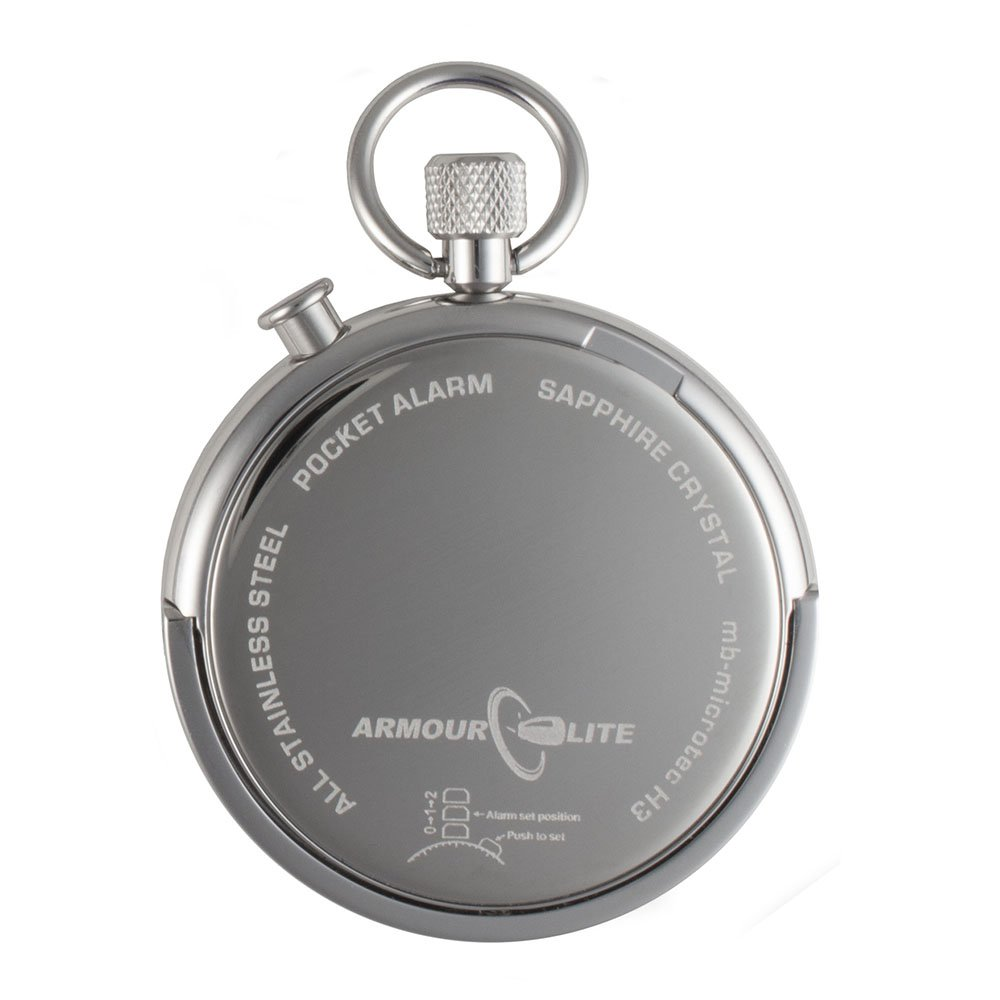 White Dial Alarm Clock Tritium Pocket Watch by Armourlite by Armourlite (Image #3)