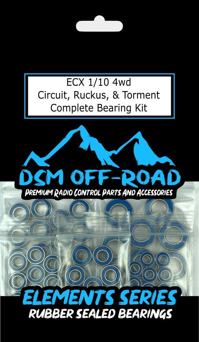 18 Bearings ECX 1//10 4wd Circuit Torment Bearing Kit Set Ruckus 4x4