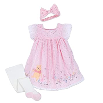 Amazon Com Disney Winnie The Pooh Dress Set For Baby Size 0 3 Mo