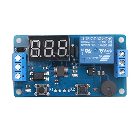 12V Display LED Timer Relay Programmable Digital Readout Module