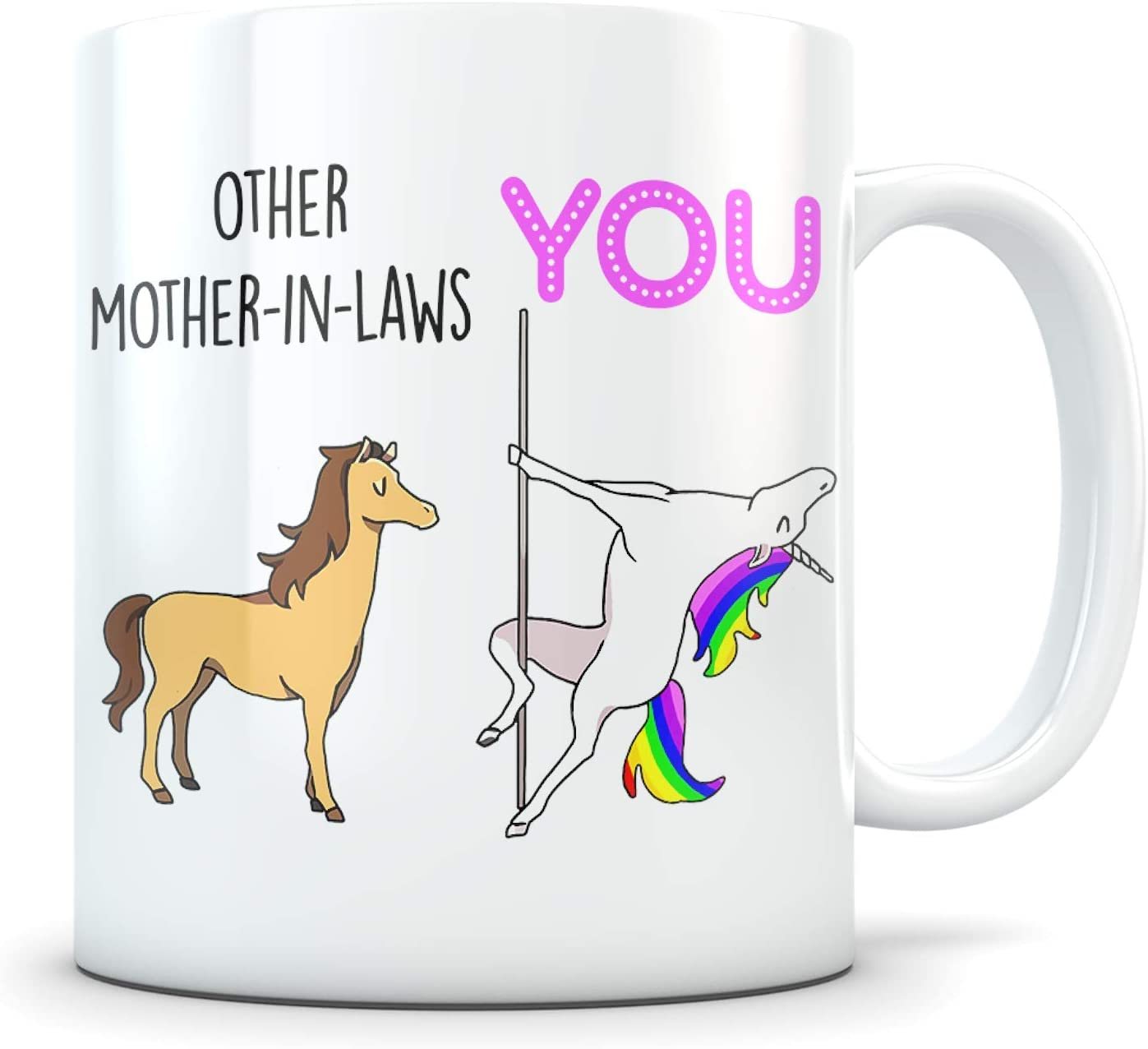 Amazon Com Funny Mother In Law Gifts Best Unicorn Themed Coffee Mug For A Mil Cute Inlaw Appreciation Cup Idea For Her For Mother S Day Birthday Or Christmas Kitchen Dining