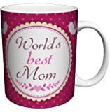 World's Best Mom Parental Humor Quote Decorative Ceramic Gift Coffee (Tea, Cocoa) 11 Oz. Mug