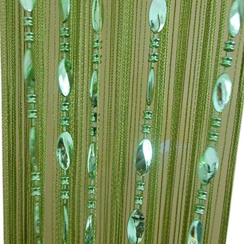 ZideTang Beaded Door Curtain Tassel Divider Color Green