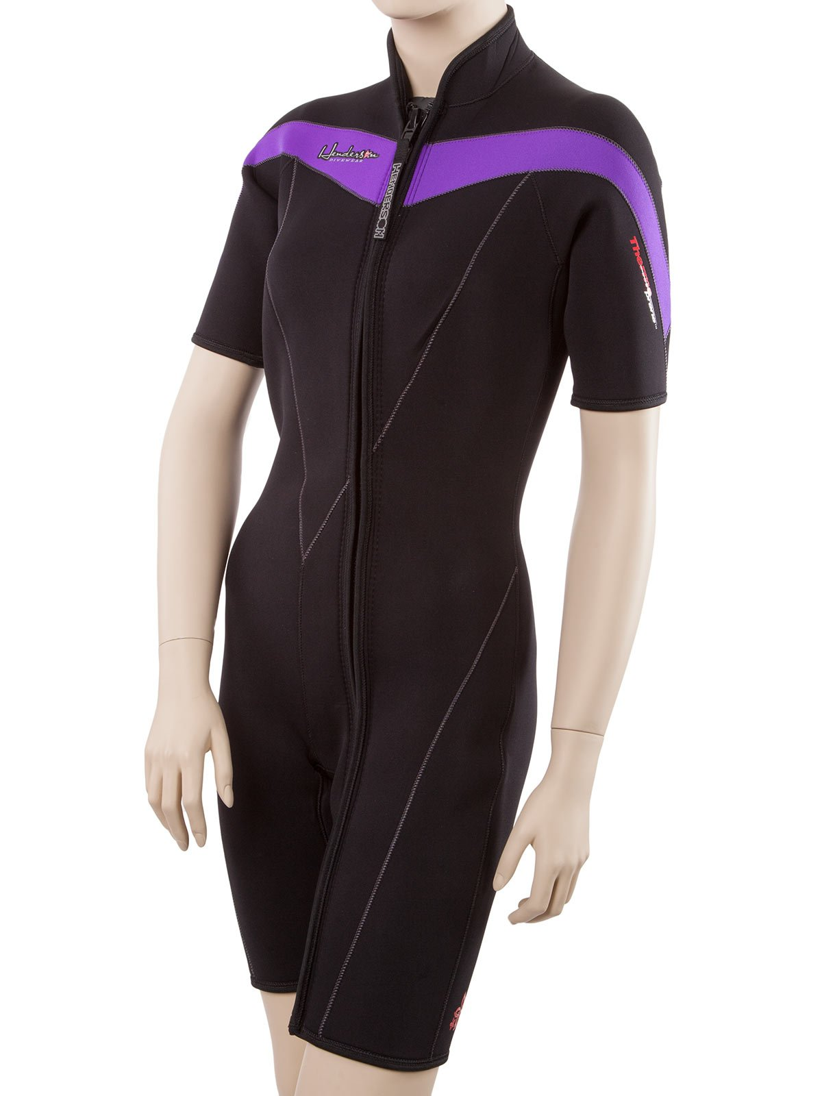 Henderson Thermoprene 3mm Womens Front Zip Wetsuit 18 Tall Black/Dark Purple by Henderson