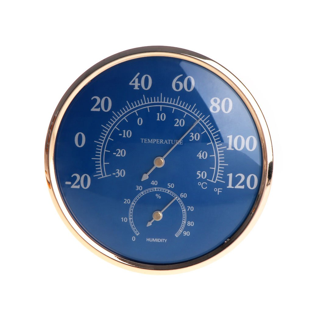 OTGO Outerdoor Indoor Large Round Thermometer Hygrometer Temperature Humidity Monitor Meter Gauge OTSNWDJ01