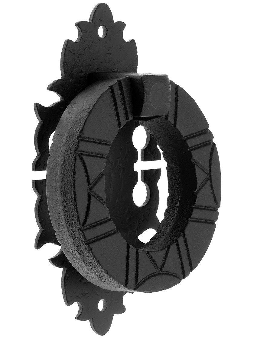 Acorn Manufacturing WPBBP Warwick Collection 6.25 Inch Ring Door Pull, Black Iron Finish