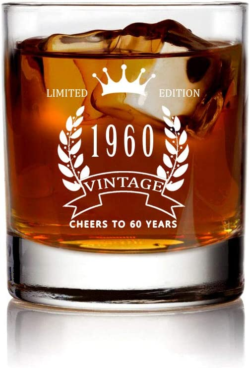 Age to Perfaction Glass,CHEERS TO 60 YEARS Scotch Glass Birthday Scotch Glass Snifter Glass Scotch Glass For him