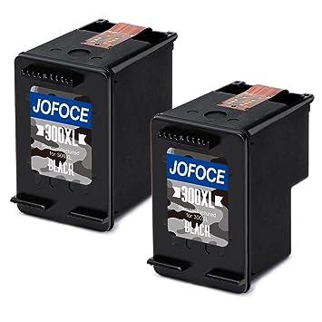 Jofoce Remanufacturéd HP 300 300XL cartouches d encre (2 Noir), Compatible  avec bd2b372eb502