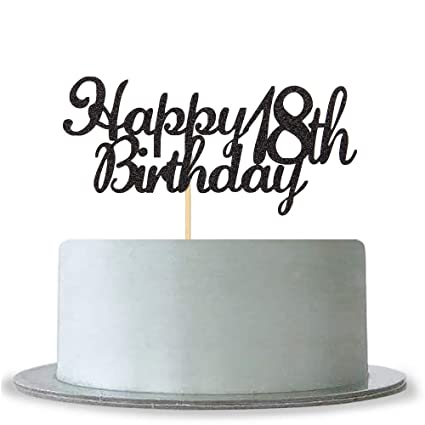 Image Unavailable Not Available For Color Happy 18th Birthday Cake Topper
