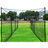 FORTRESS Ultimate 70' Baseball Batting Cage [Net & Poles Package] - #42 Heavy Duty Net with Steel Uprights