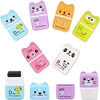 6 Pcs Cute Pencil Eraser, Cartoon Animal Themed Roller Colorful Rectangle Eraser, Pencil Rubber Erasers for Kids School…
