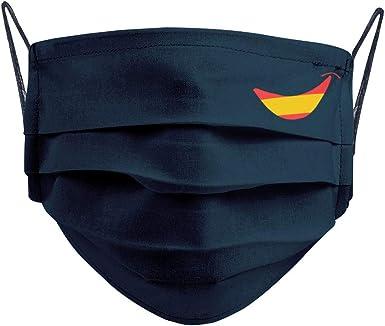 Cencibel Smart Casual Mascarilla Bandera de España Sonrisa Marino: Amazon.es: Ropa y accesorios