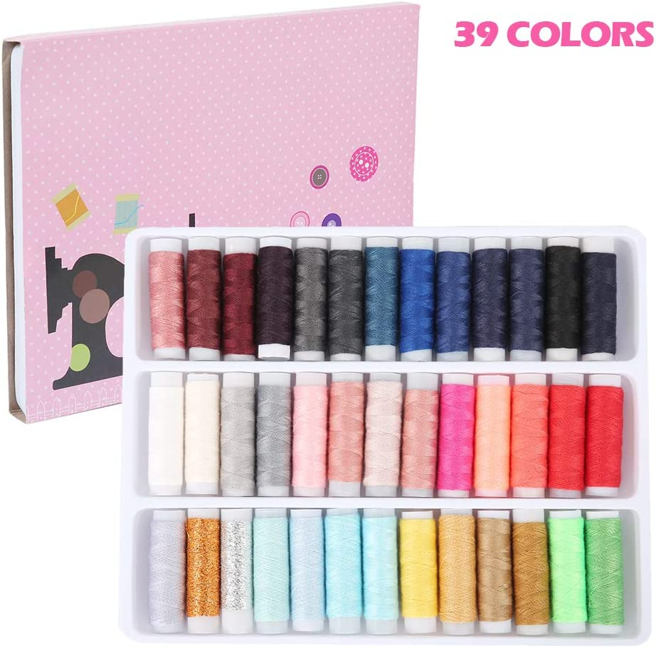 24X Mixed Colors Polyester Spool Sewing Thread For Machine Useful Set Shop