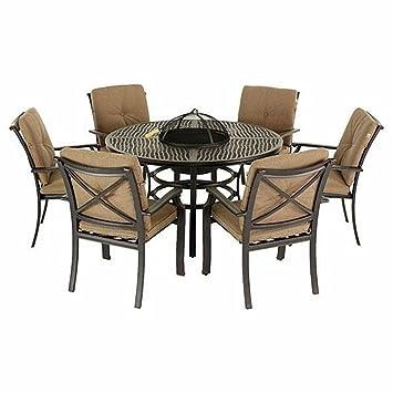 Jamie Oliver Hartman - Juego de mesa y 6 sillas para jardín: Amazon ...