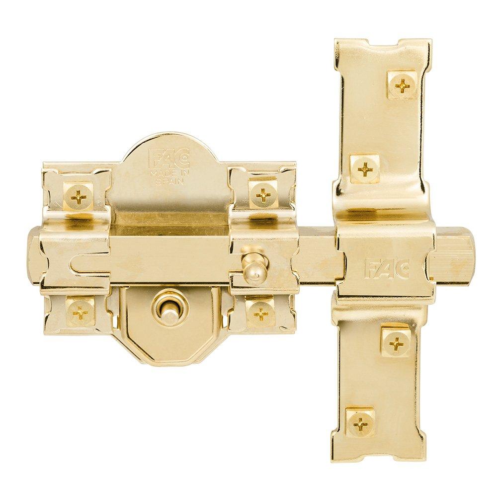Fac seguridad 201r - Cerrojo 201-r/80 dorado: Amazon.es: Bricolaje y herramientas