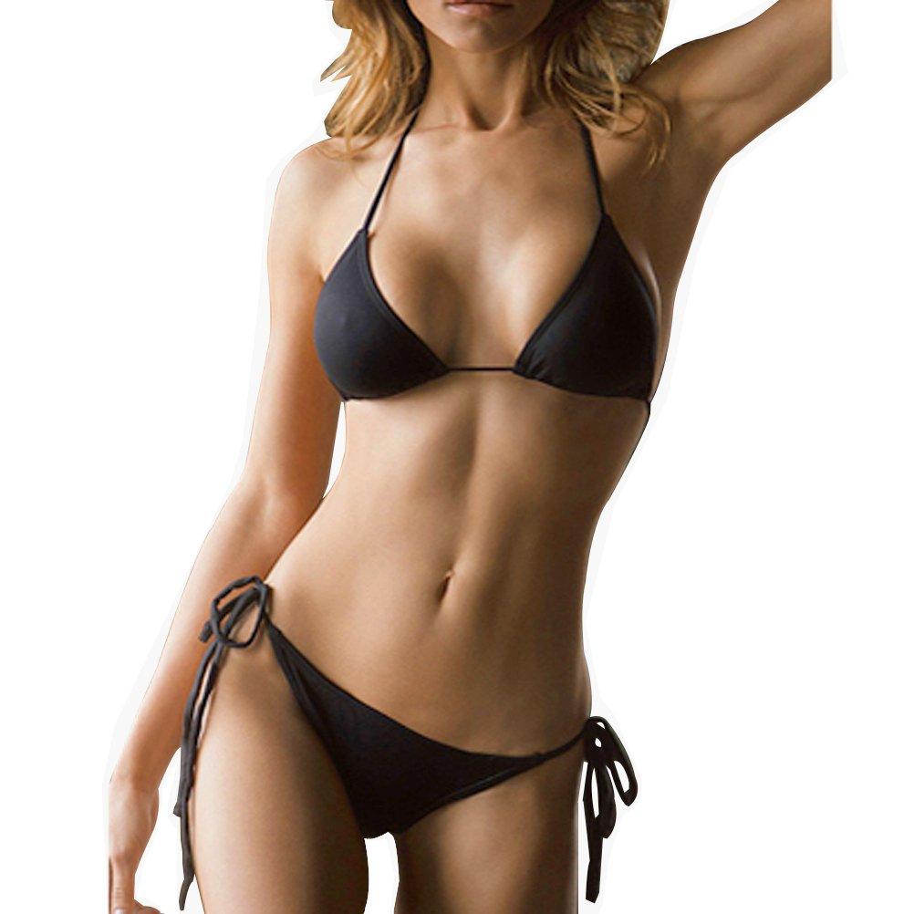 SHERRYLO 10 Solid Color Women's Thong Bikini Set Trajes De Baño De Mujer For S-XL Body