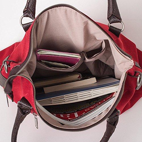 Bags4Less F3151 - Bolso de hombro Mujer Azul oscuro terciopelo