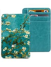 Slim RFID Blocking Card Holder,Leather Front Pocket Wallet for Men & Boy,Money Clip,Creadit Card Holder Case