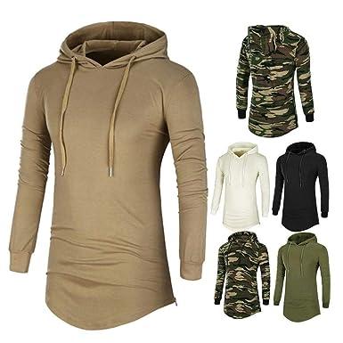 d1e6c7639 FidgetGear Fashion Men's Slim Fit Hoodies Hooded Long Sleeve Muscle Tee T-shirt  Tops Blouse
