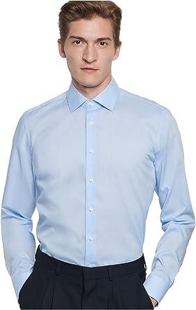 Seidensticker Super Schmal Bügelfrei Stretch, Camisa para Hombre: Amazon.es: Ropa y accesorios