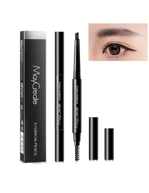 Chiak Waterproof Long Lasting Double Head Automatic Rotation Eyebrow Pencil Liner & Shadow Combinations