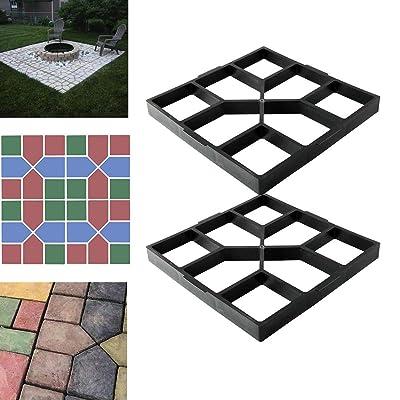 "TC-Home 15.75""x 15.75"" Walk Makers 2PCS Pathmate Stone Maker Concrete Path Maker Yard Garden DIY : Garden & Outdoor"