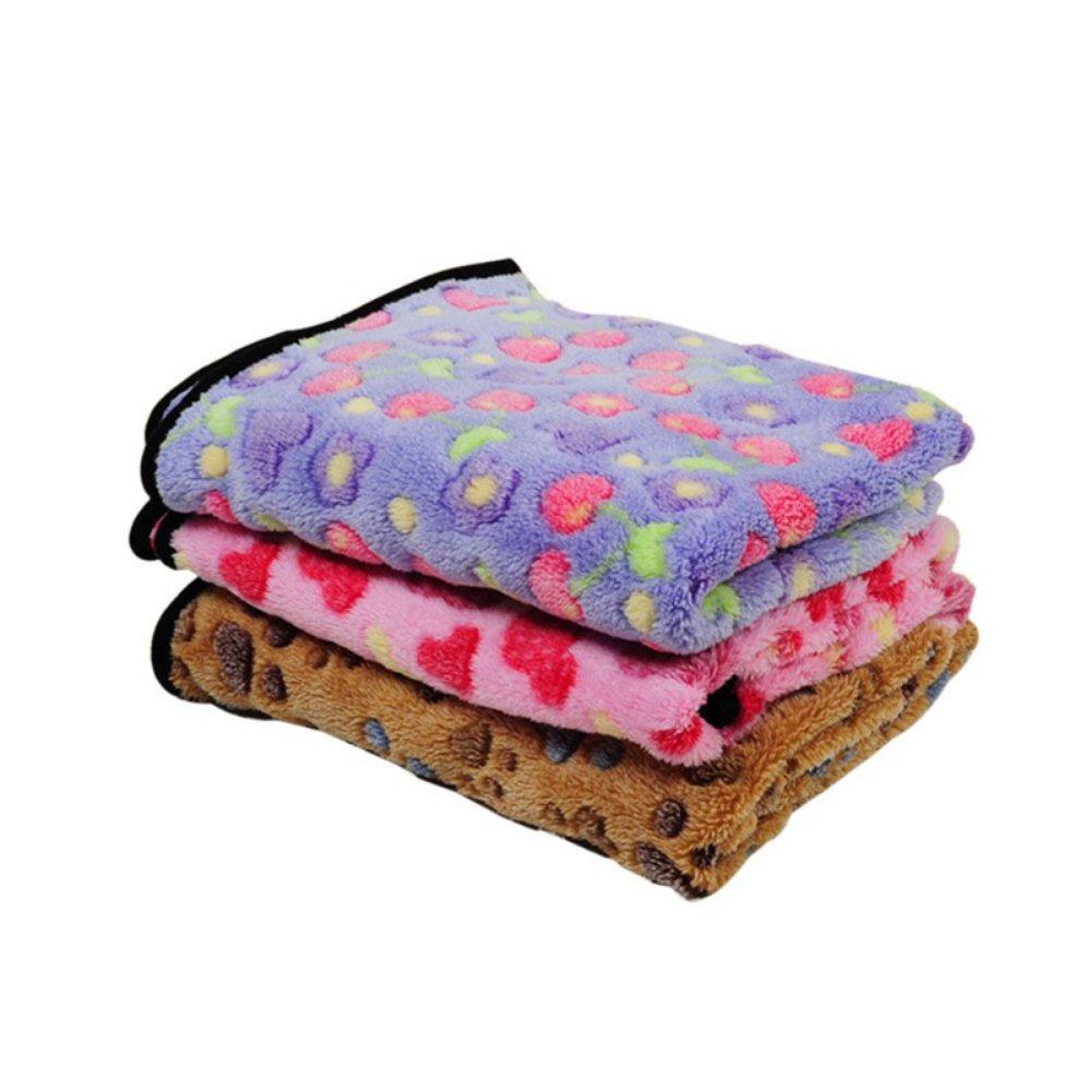 PanDaDa Pet Dog Cat Blanket Coral Fleece Foldable Super Soft Pet Bed Mat