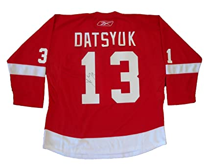 52e5ccbb1b8 Pavel Datsyuk Autographed Detroit Red Wings Red Jersey W PROOF ...
