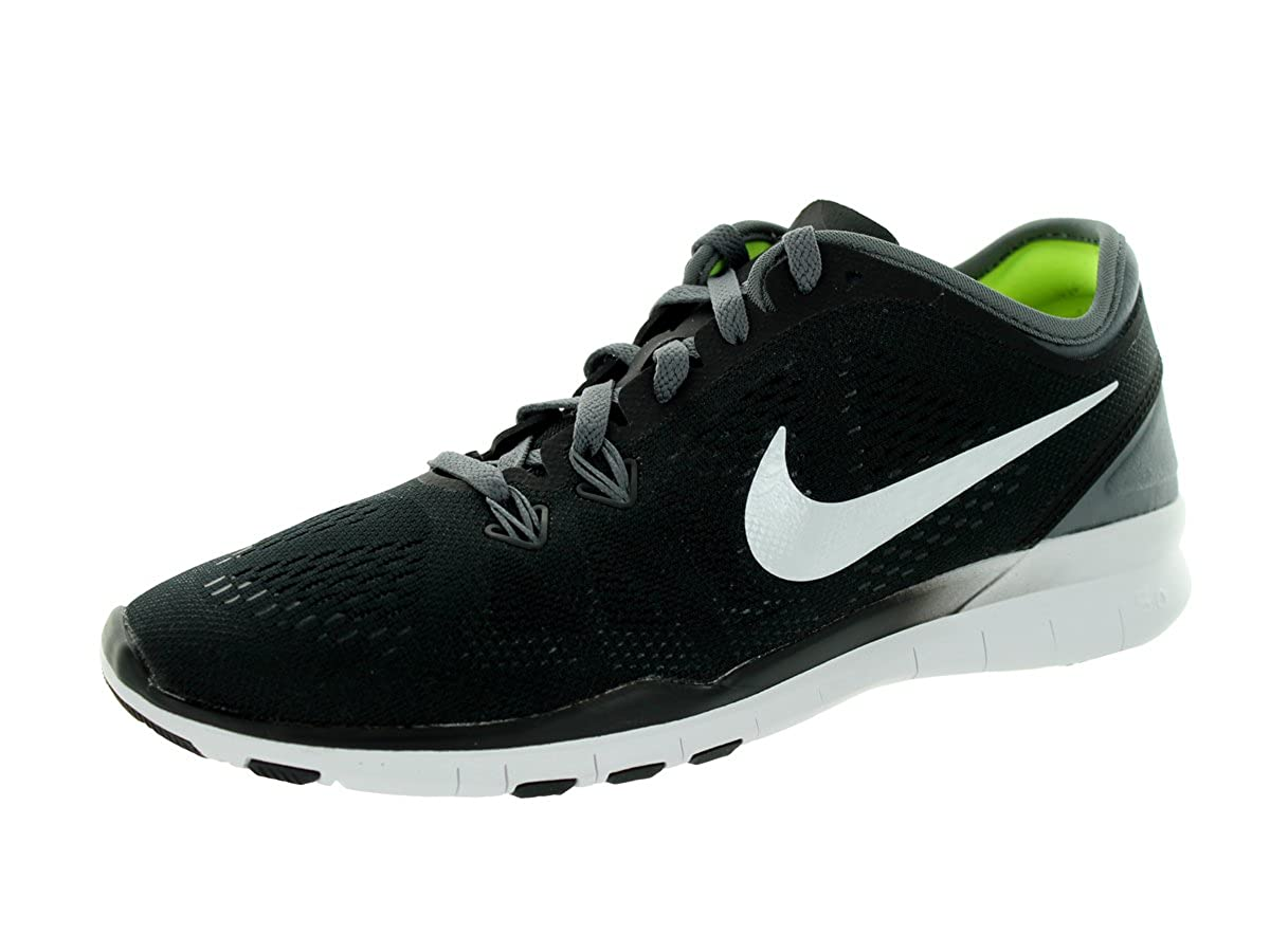 brand new 37406 a6294 Nike Women s Free 5.0 Tr Fit 5 Black White Dark Grey White Training Shoe  7.5 Women US  Buy Online at Low Prices in India - Amazon.in