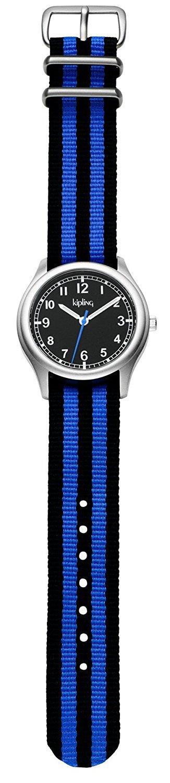 Kipling Kids Vintage Blue Stripe Quartz Watch by Kipling