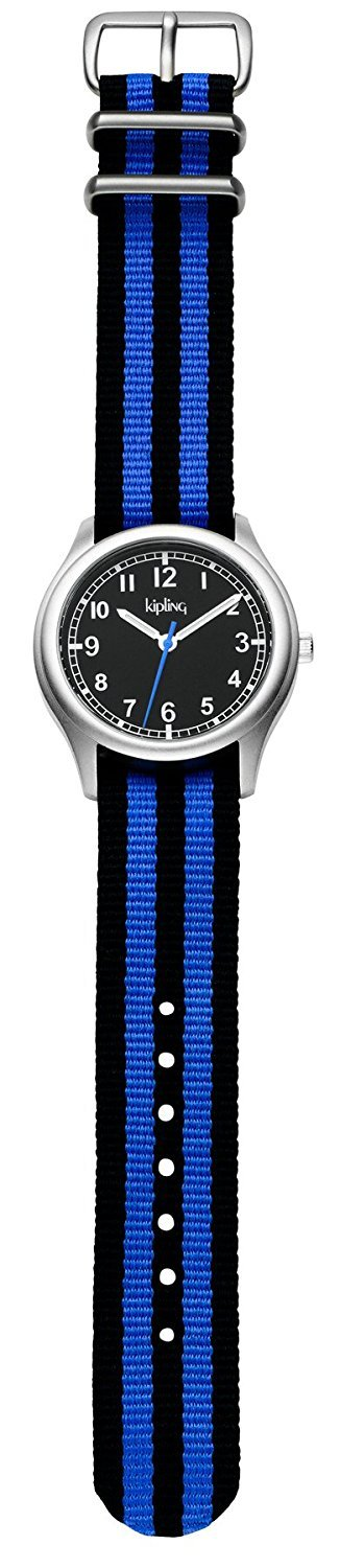Kipling Kids Vintage Blue Stripe Quartz Watch