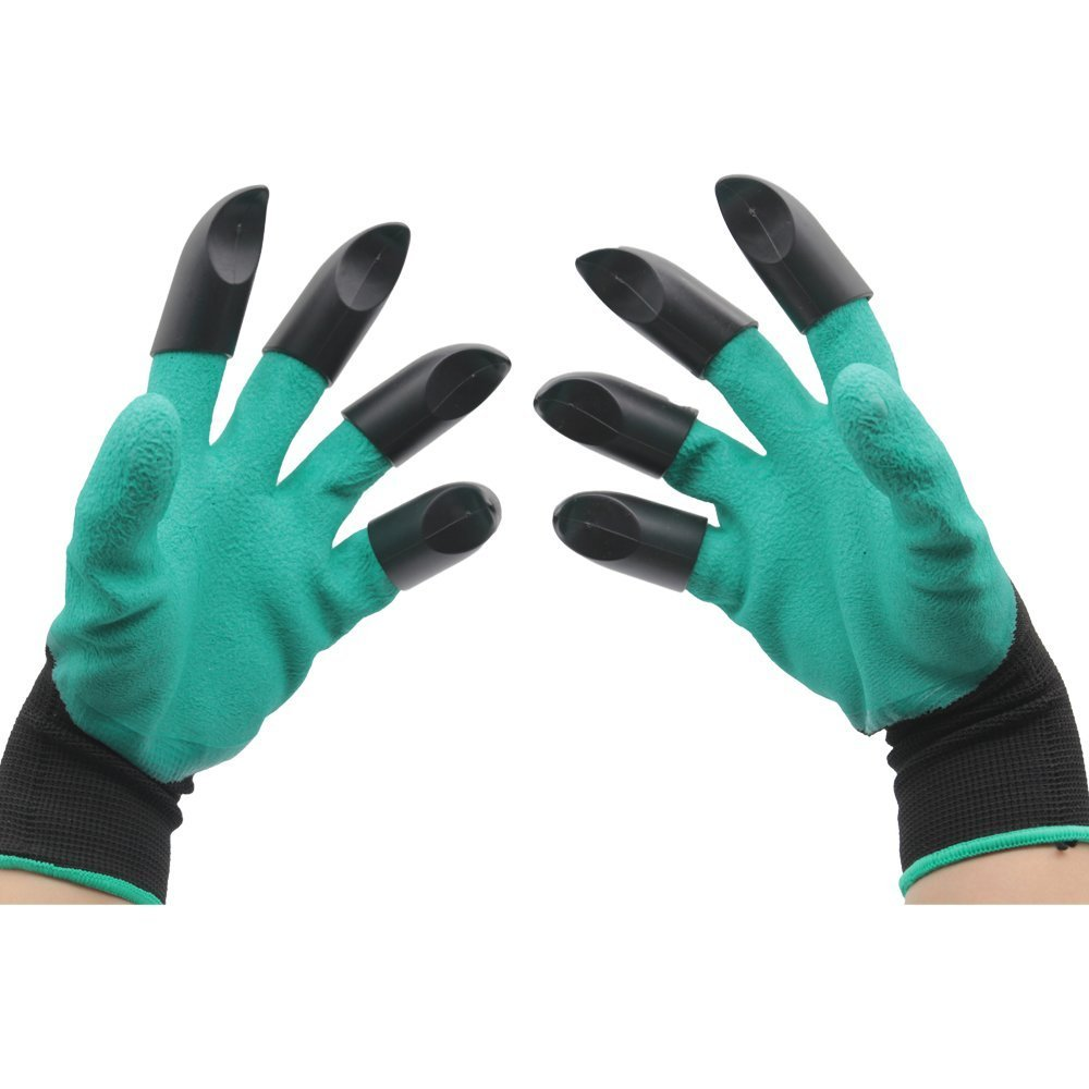 Meanch Handed Garden Genie Gloves with Fingertips Easy to Dig and Plant Safe for Rose Pruning