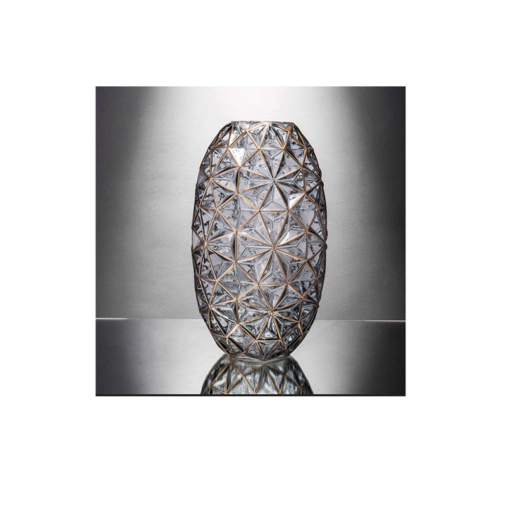ガラス花瓶/水耕植物花瓶サイズ(7.5×20×34cm) SHWSM (色 : グレイ ぐれい) B07RXT4FFM グレイ ぐれい