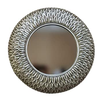 Large Round Decorative Mirror.Amazon Com Humakeup Large Round Bathroom Wall Mirror Retro