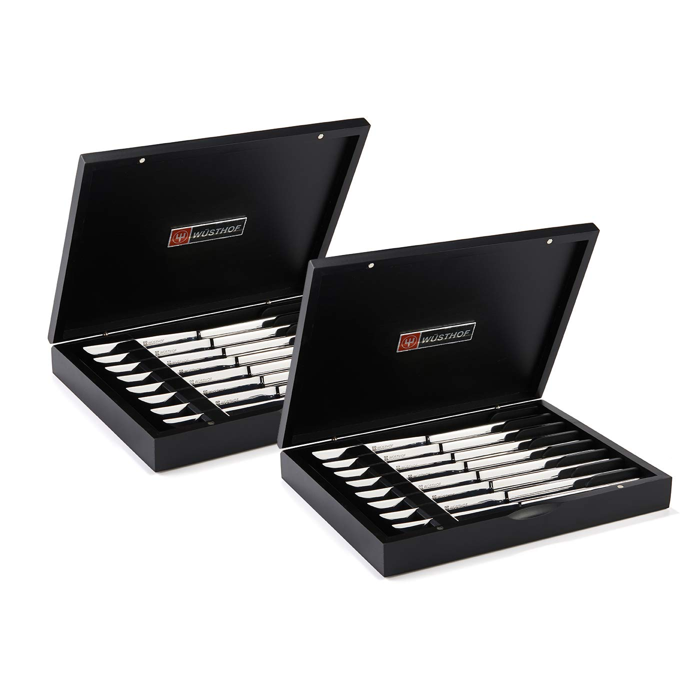 Wusthof Stainless Steel Eight Piece Steak Knife Set (2, STAINLESS EIGHT PIECE STEAK KNIFE SET IN BLACK CHE)